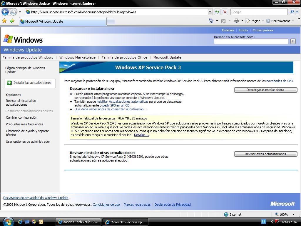 Instalando SP3 para Windows XP | Xaban\'s Tech Vault