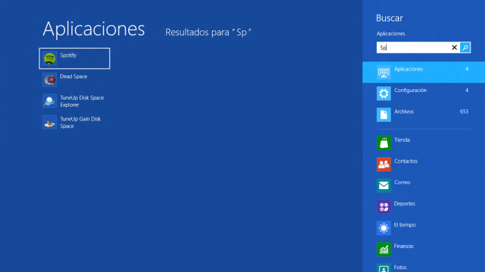 Búsqueda en Windows 8 RP